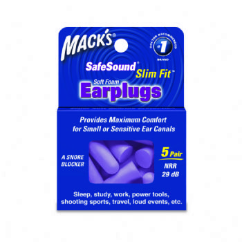 Mack's SlimFit Earplugs 5 Pair Box